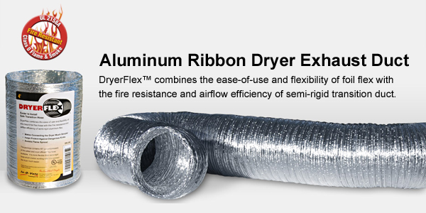 aluminum ribbon dryer exhaust duct